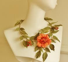 flower necklace wedding images Silk flower necklace wedding flowers presentperfect creations jpg