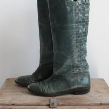 womens boots green leather shop 70 s boots on wanelo