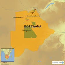 Kalahari Desert Map Botswana Country Holidays Singapore