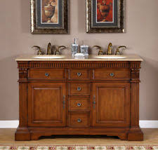 cherry double bathroom vanities ebay