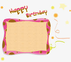 birthday card creative birthday cartoon collage png and vector