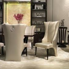 High Back Chairs For Dining Room Wing Back Dining Chairs Foter Intended For High Decor 15