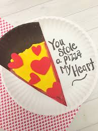 valentines kids day pizza paper plate craft for kids tutorial