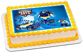 transformer cake toppers transformers rescue bots 5 edible cake or cupcaketopper edible