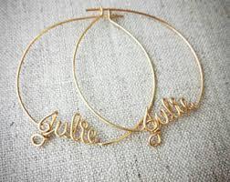 Personalized Names Custom Name Earrings Etsy