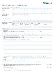pet insurance loss by theft or straying claim form 0917 pet insurance loss by theft or straying claim form 0811