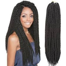 synthetic hair extensions black fashion twisted rope braid synthetic hair extension for