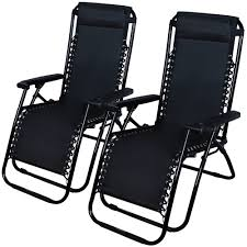 Patio Chair Set Of 2 by Zero Gravity Chairs Case Of 2 Black Lounge Patio Chairs Outdoor