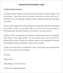 collection of solutions format of a job recommendation letter with