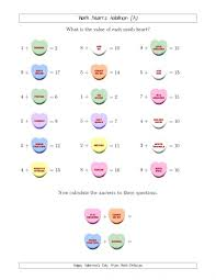 math valentine worksheets koogra