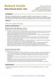 medical records analyst resume samples qwikresume