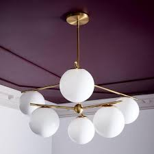 Sphere Ceiling Light Sphere Stem Chandelier West Elm Uk