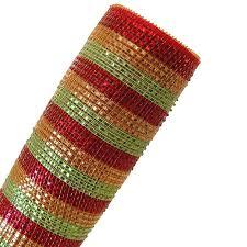 wide mesh ribbon 21 gold lime green wide foil stripe deco poly mesh ribbon