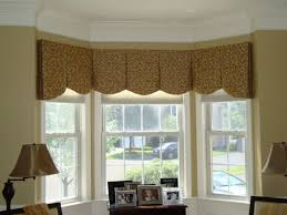 Bay Window Valance Bedroom Nice Bay Window Treatment Idea With Brown Valance And