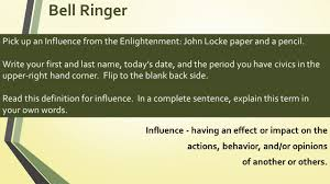 bell ringer pick up an influence from the enlightenment john