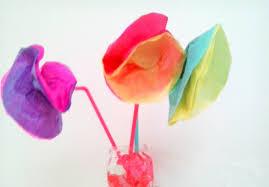 kids craft tissue paper flowers get crafty