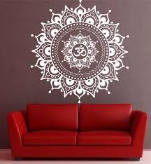 Meditation Home Decor Aliexpress Com Buy Mandala Pattern Big Wall Decal Vinyl Art