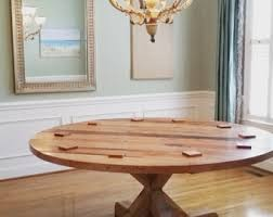 round dining table kitchen white table with solid oak legs