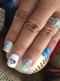 toronto blue jays gel nails nails pinterest baseball nails