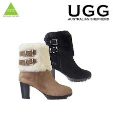 ugg boots sale ebay australia ugg boots 100 sheepskin high heels candice black brown size