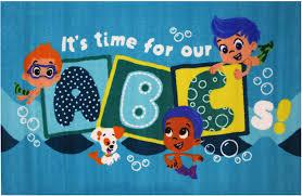fun area rugs bubble guppies rugs bg 42 u0027s abc u0027s