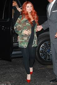 how to put red hair in on the dide with 27 pieceyoutube christina aguilera rocks freshly dyed orange red hair and form