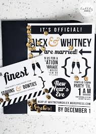 new year u0027s eve elopement celebration invitation by bubbly design