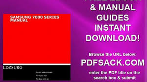 samsung 7000 series manual video dailymotion
