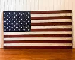 wood american flags etsy