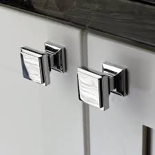 black and chrome kitchen cupboard handles southern polished chrome square cabinet knobs pack of