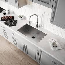what size undermount sink fits in 30 inch cabinet kraus handmade undermount 30 in x 18 in stainless steel single bowl kitchen sink