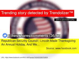 republican security council lincoln made thanksgiving an annual