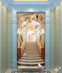 3d classic angel bird heaven stair corridor entrance wall mural 3d classic angel bird heaven stair corridor entrance wall mural decals art print wallpaper 024