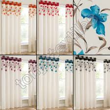 sentinel lily pair ring top eyelet fully lined ready made curtains red black cream blue