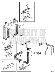 volvo penta exploded view schematic control unit and connection