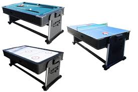 3 in 1 air hockey table 3 in 1 rotating combination multi game table pool air hockey