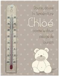 thermomètre mural chambre bébé cadre thermomètre mural ourson