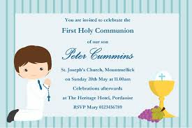 communion invitation personalised communion invitations boy new design 8