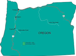 map of oregon state or map oregon state map