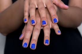 the easiest at home mani how to apply nail stickers beautylish