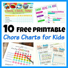 sample chore chart chore charts for kids printable chore charts