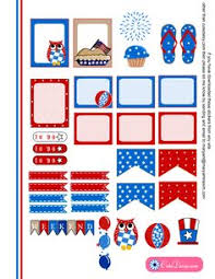 erin condren life planner free printable stickers free printable 4th of july stickers for happy planner planner