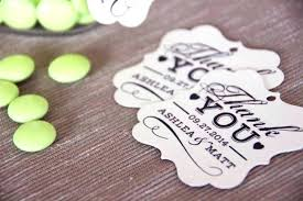wedding favors unlimited thank you wedding favors favor tag with thank you message wedding