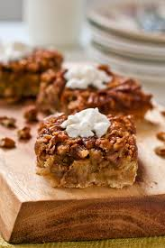these pecan pie bars are a great thanksgiving dessert you can easily