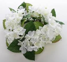 flower candle rings artificial hydrangea candle ring wedding florals floral