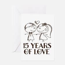15 wedding anniversary 15th anniversary 15th anniversary greeting cards cafepress