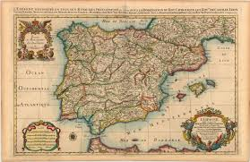 map of spain historic map of spain dateman books