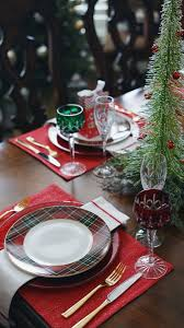 dining table christmas decorations tartan dining table decor christmas tablescape by lynny