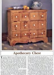 apothecary chest plans u2022 woodarchivist