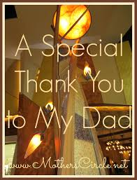 a special thank you to my dad mother u0027s circle